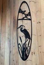 Murals In Metal Large Crane and Butterflies