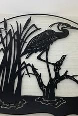 Murals In Metal Crane Metal Art