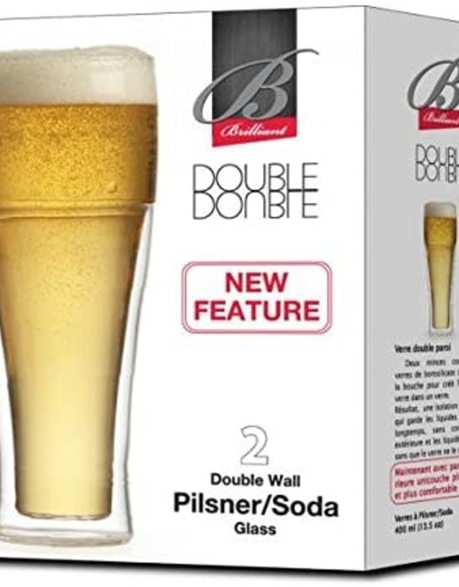 Double Wall Pilsner/Soda Glasses