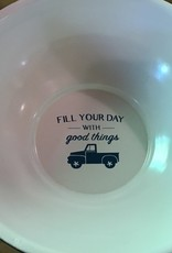Enamel Bowl - Fill your day with good things