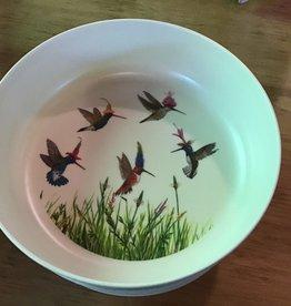 Pdd Bamboo Bowls, set of 4 - Hummingbirds