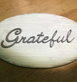Grateful - wooden plaque