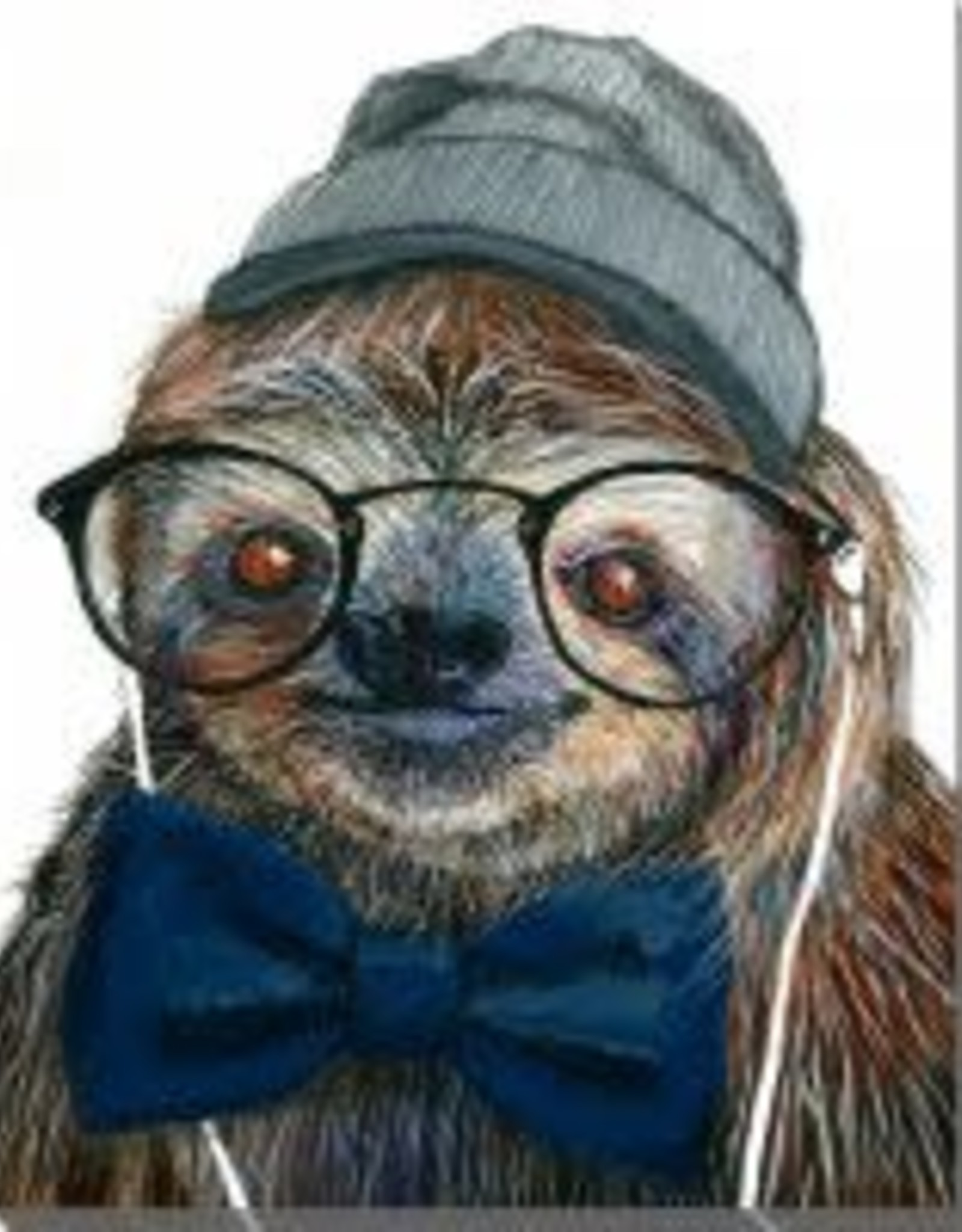 Streamline Art Hipster Sloth