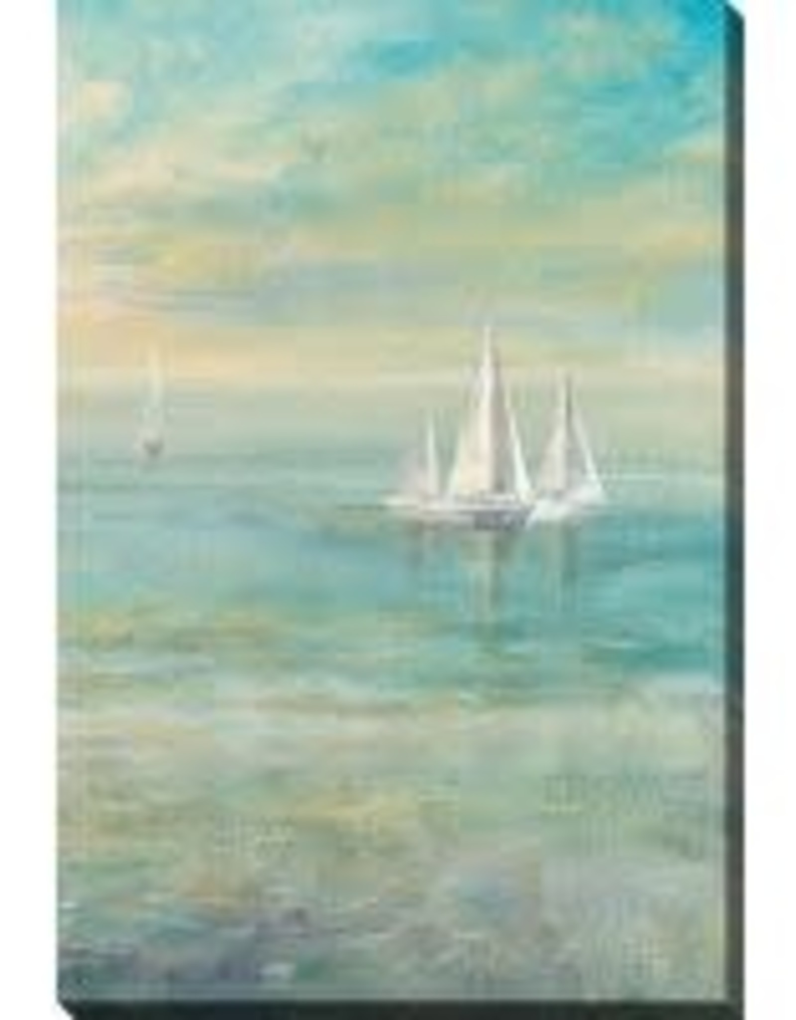 Streamline Art Sunrise Sailboats