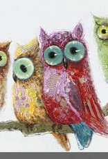Streamline Art Owls In A Row