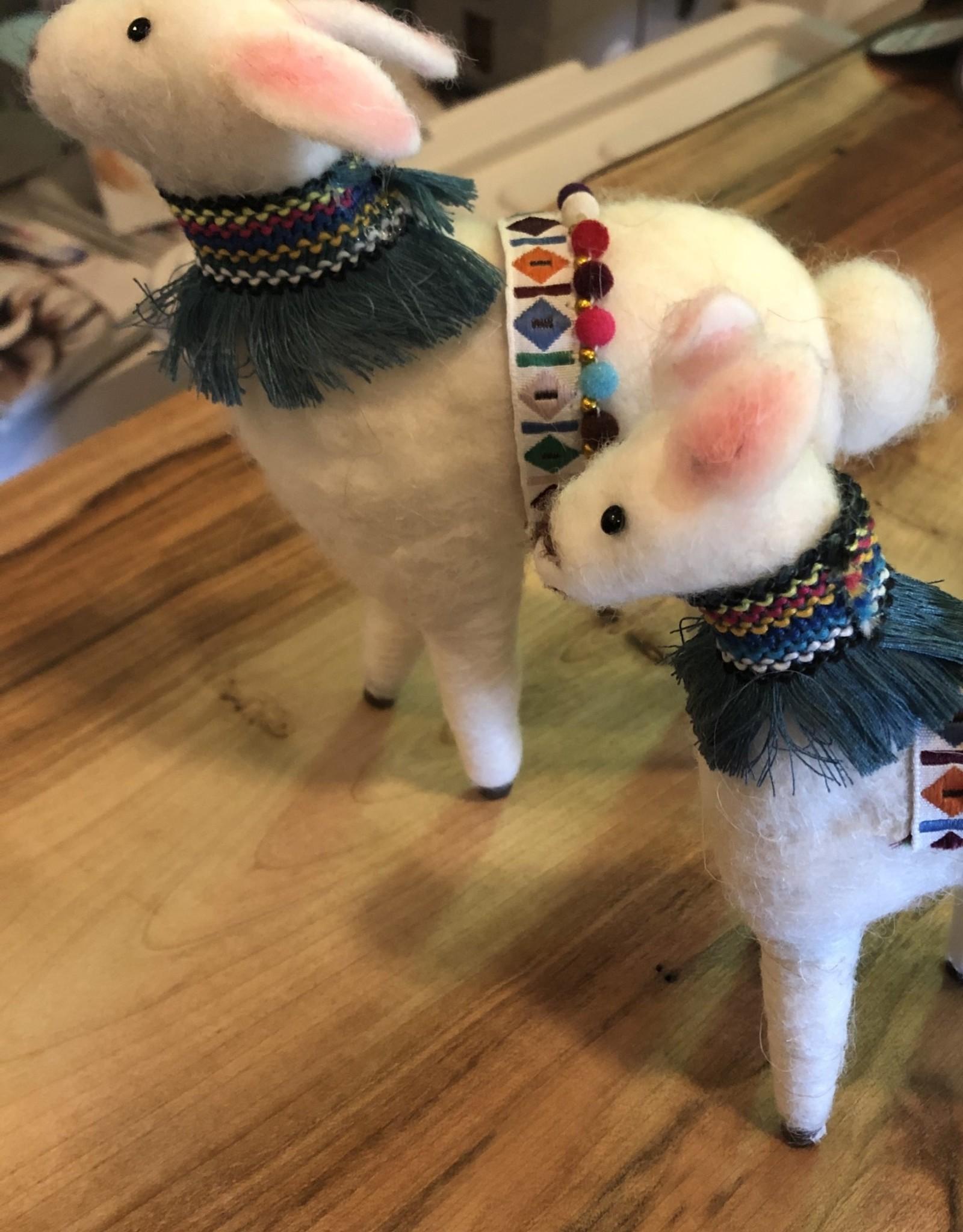 Felted Wool Lamas (set of 2)