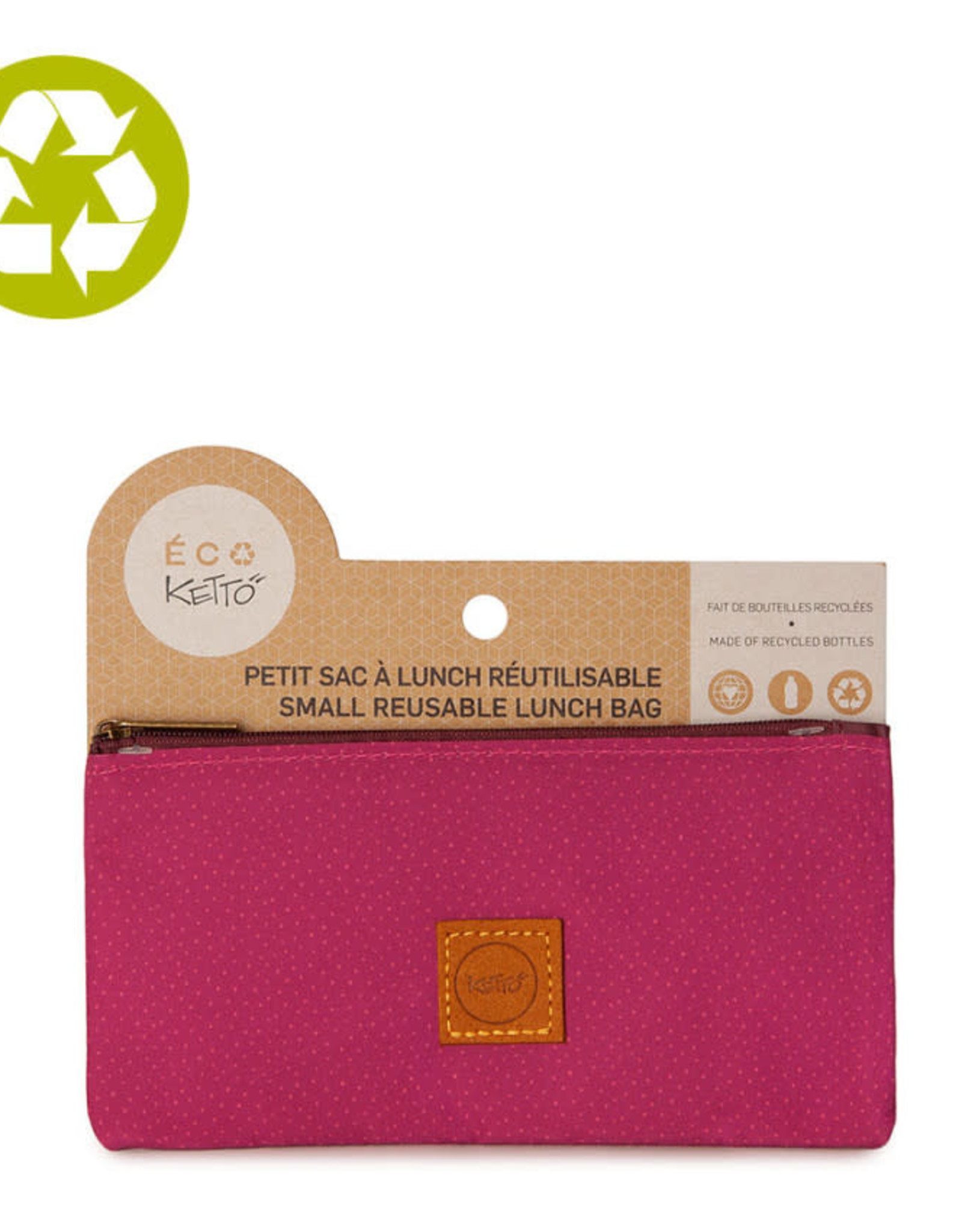Ketto Reusable Lunch Sack Pink Dots