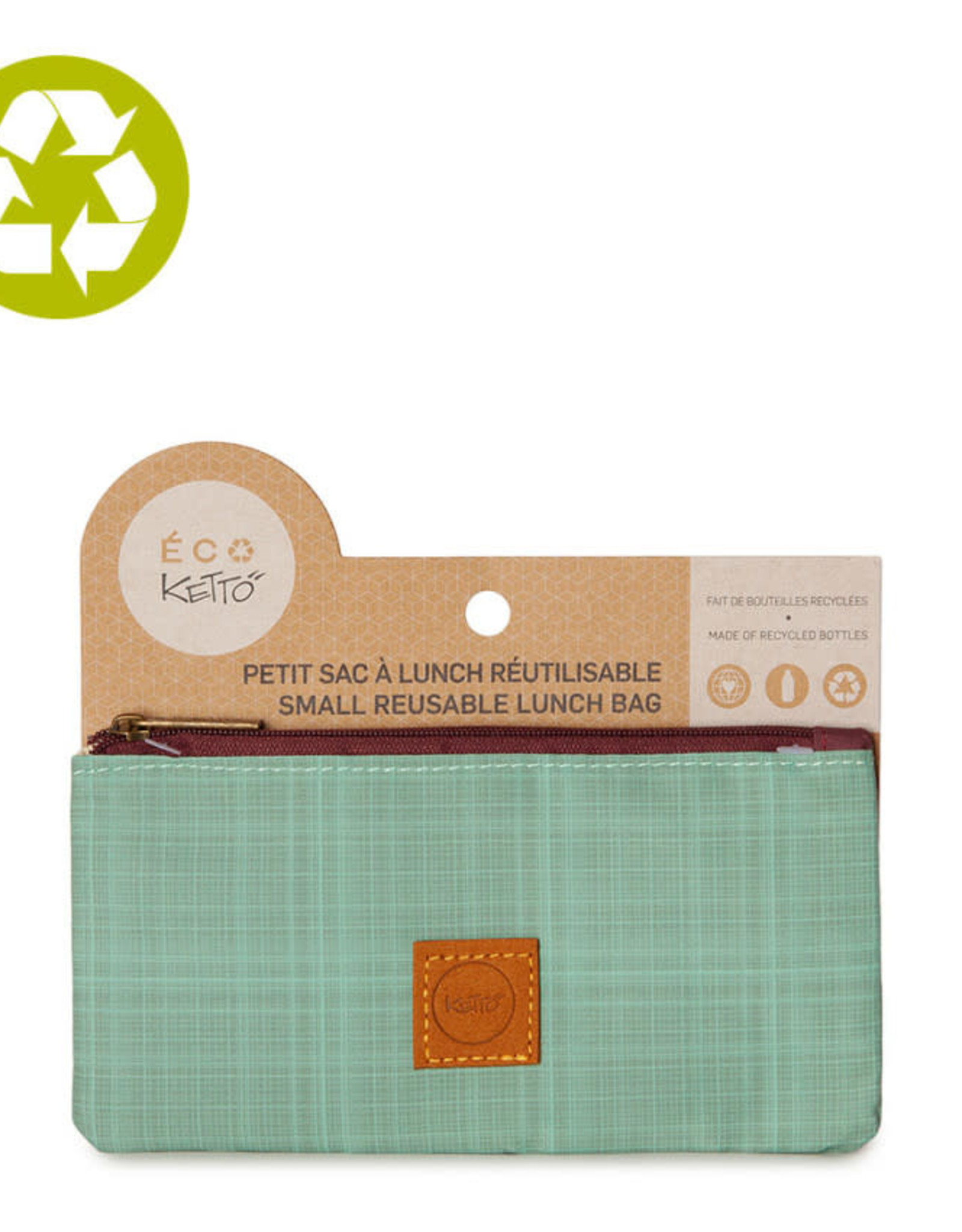 Ketto Reusable Lunch Sack Blue Woven
