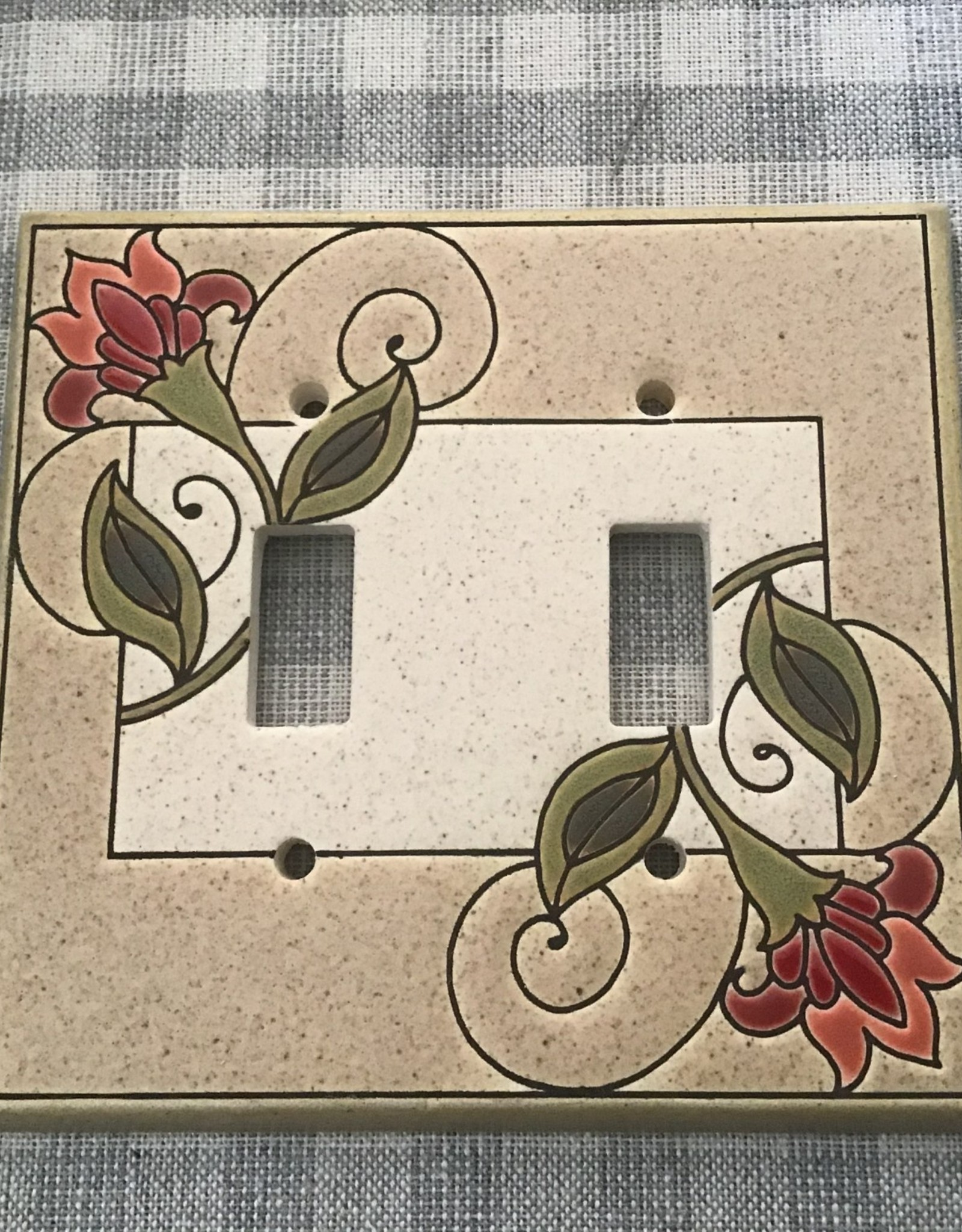 All Fired Up Ceramic Switch Plate Cover Double