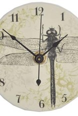 All Fired Up Clock - Dragonfly