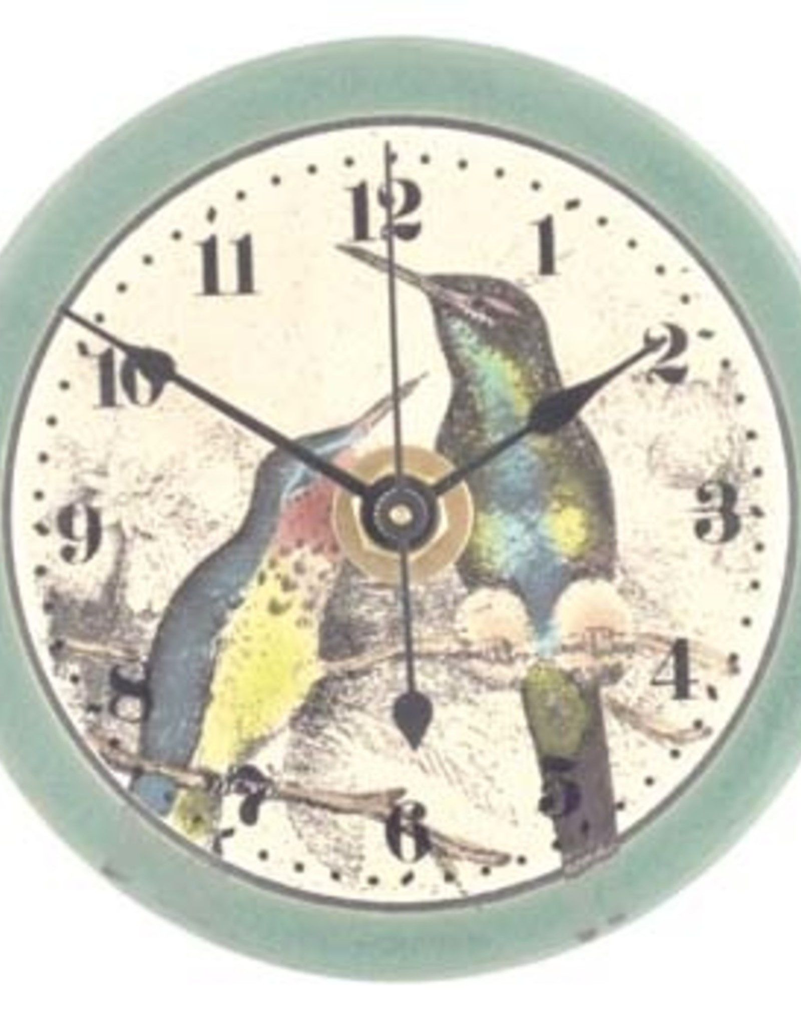 All Fired Up Clock - Hummingbird