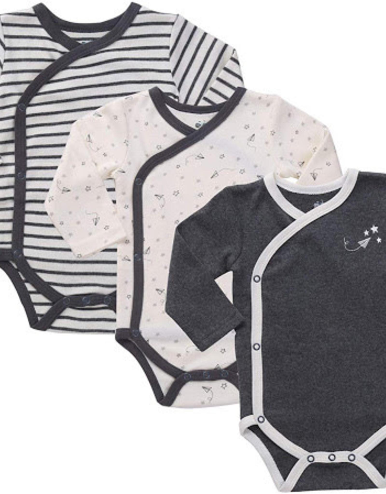 Asher & Olivia Kimono Long sleeve body suit , three pieces