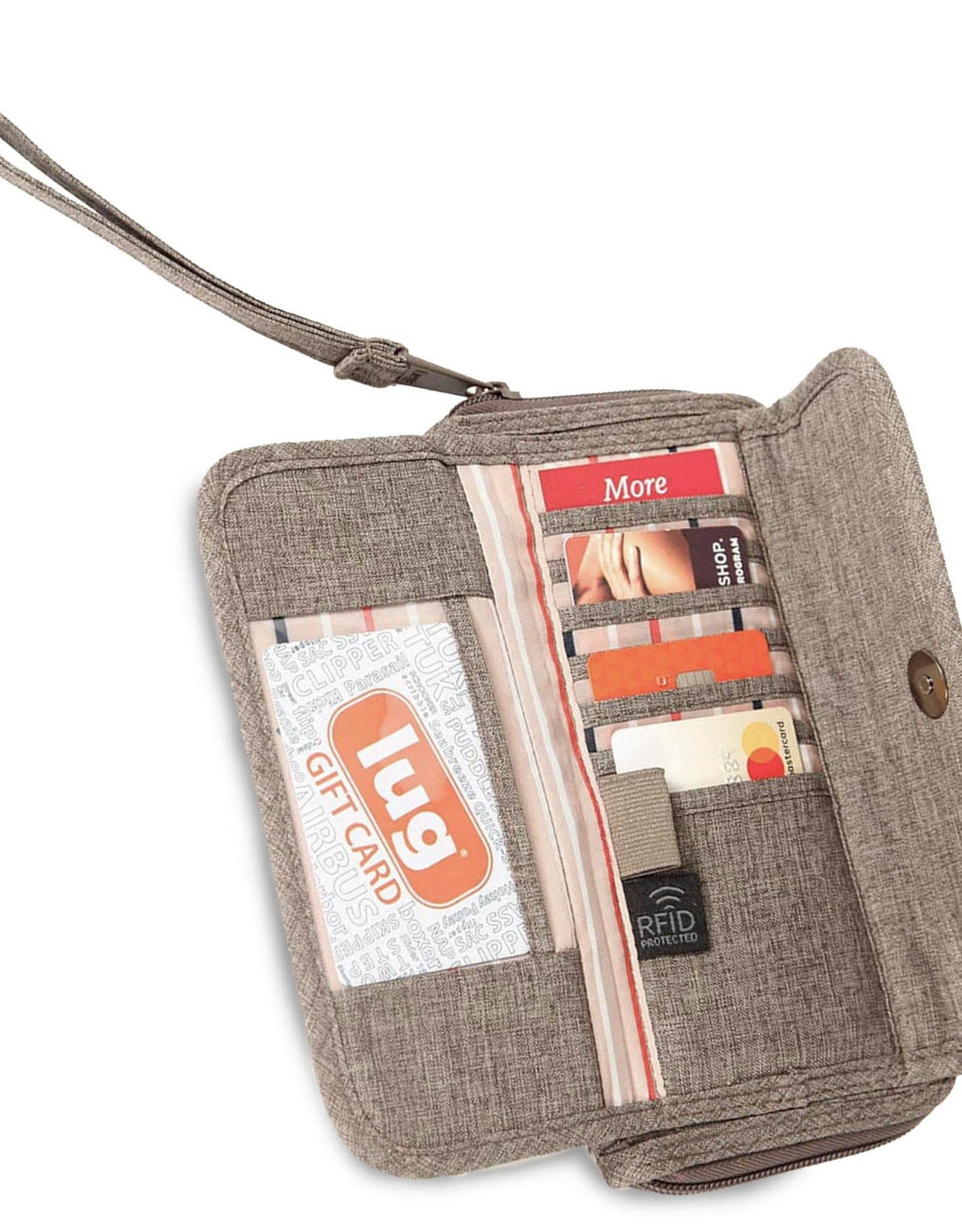 Lug Kick Flip Wallet - Heather Walnut