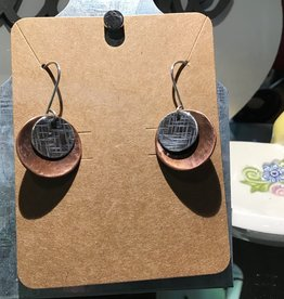 Copper and Sterling Silver Drop Earing