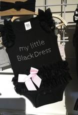 """Onesie """"My Little Black Dress"""" 0-6 Months"""