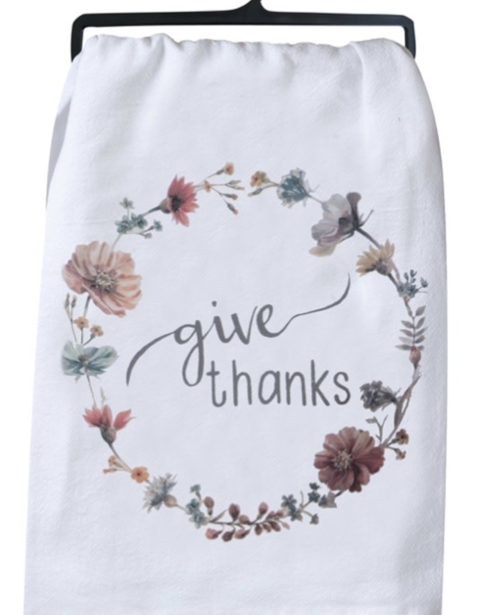 "Tea Towel ""Give Thanks"""
