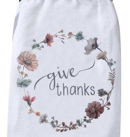 "Tea Towel ""Give Thanks"""