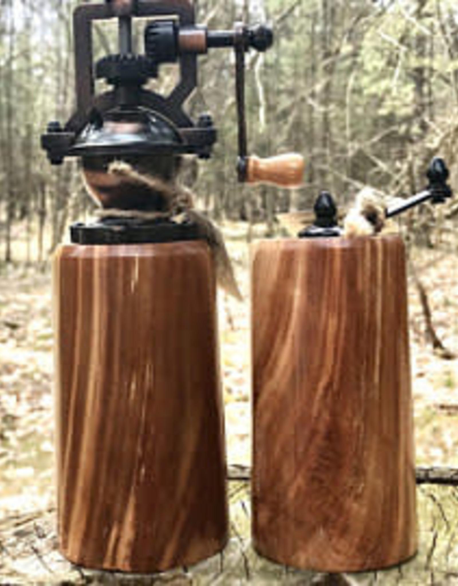 Rosewell Woodworking Cherry Burl Salt & Pepper Grinder
