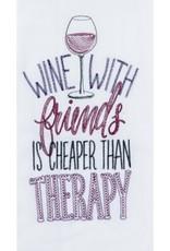 "Tea Towel "" Wine Therapy"""