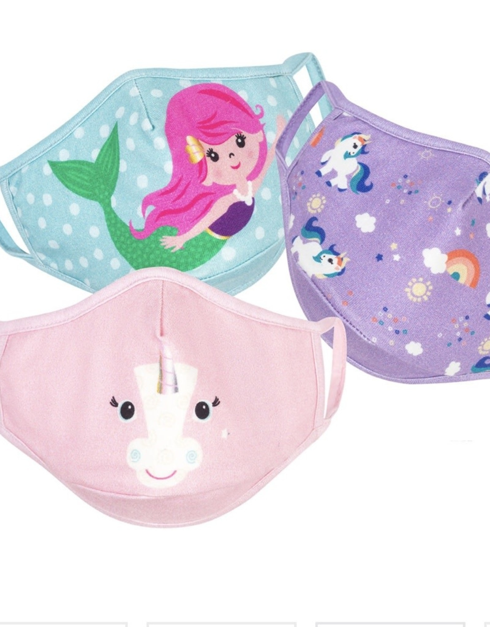 Zoocchini Organic reusable mask unicorn (3 pk)