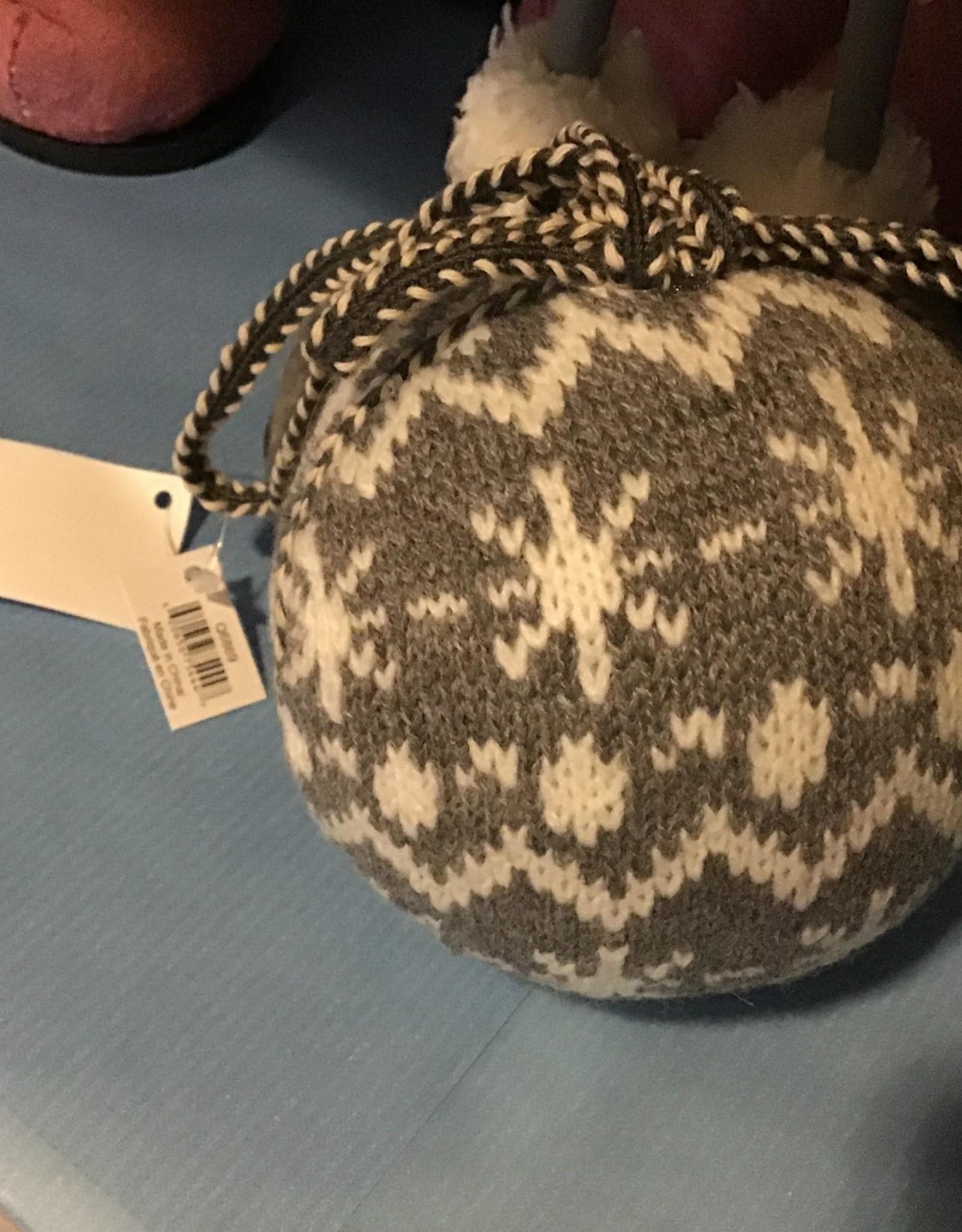 Grey/White Knit Nordic Christmas Ball Random Assortment