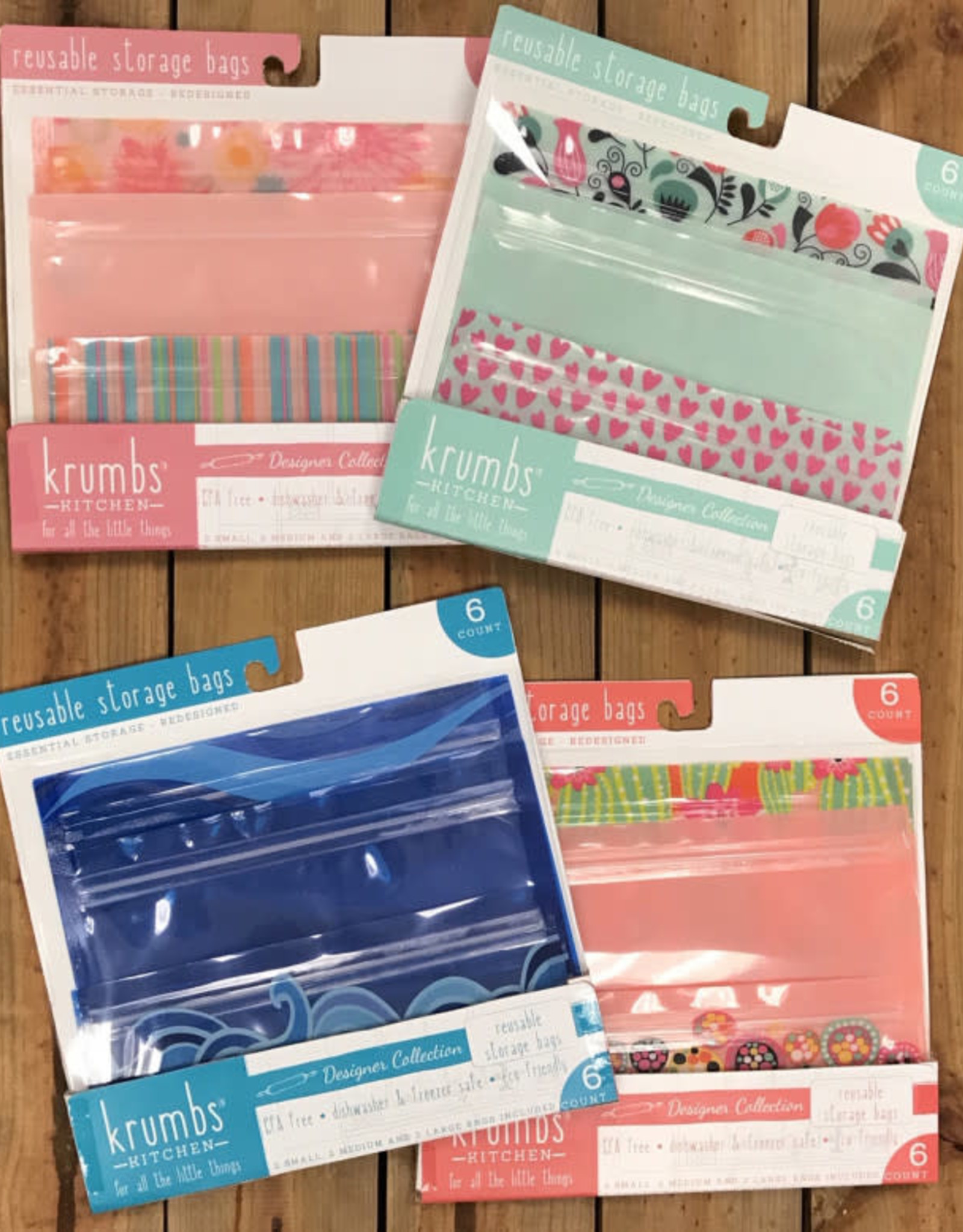 Krumbs Reusable Storage Bags ( six pack)
