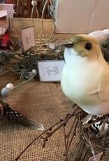 White/Brown Bird on Clip