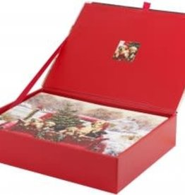 Bringing Home The Tree Deluxe Box Christmas Cards
