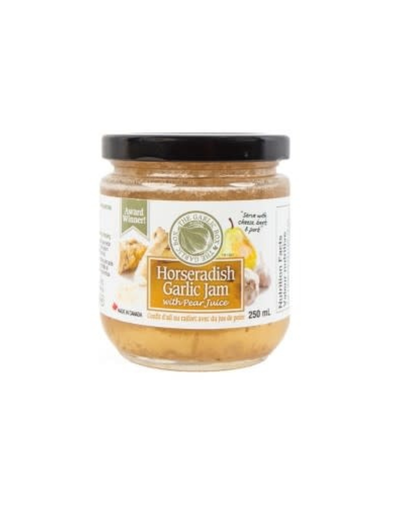 The Garlic Box Horseradish Garlic Jam with Pear Juice