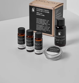 Groom Beard Care Trial Kit (oil, balm,wash)