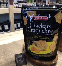Knack o pop Cheddar Cheese Thin Crackers