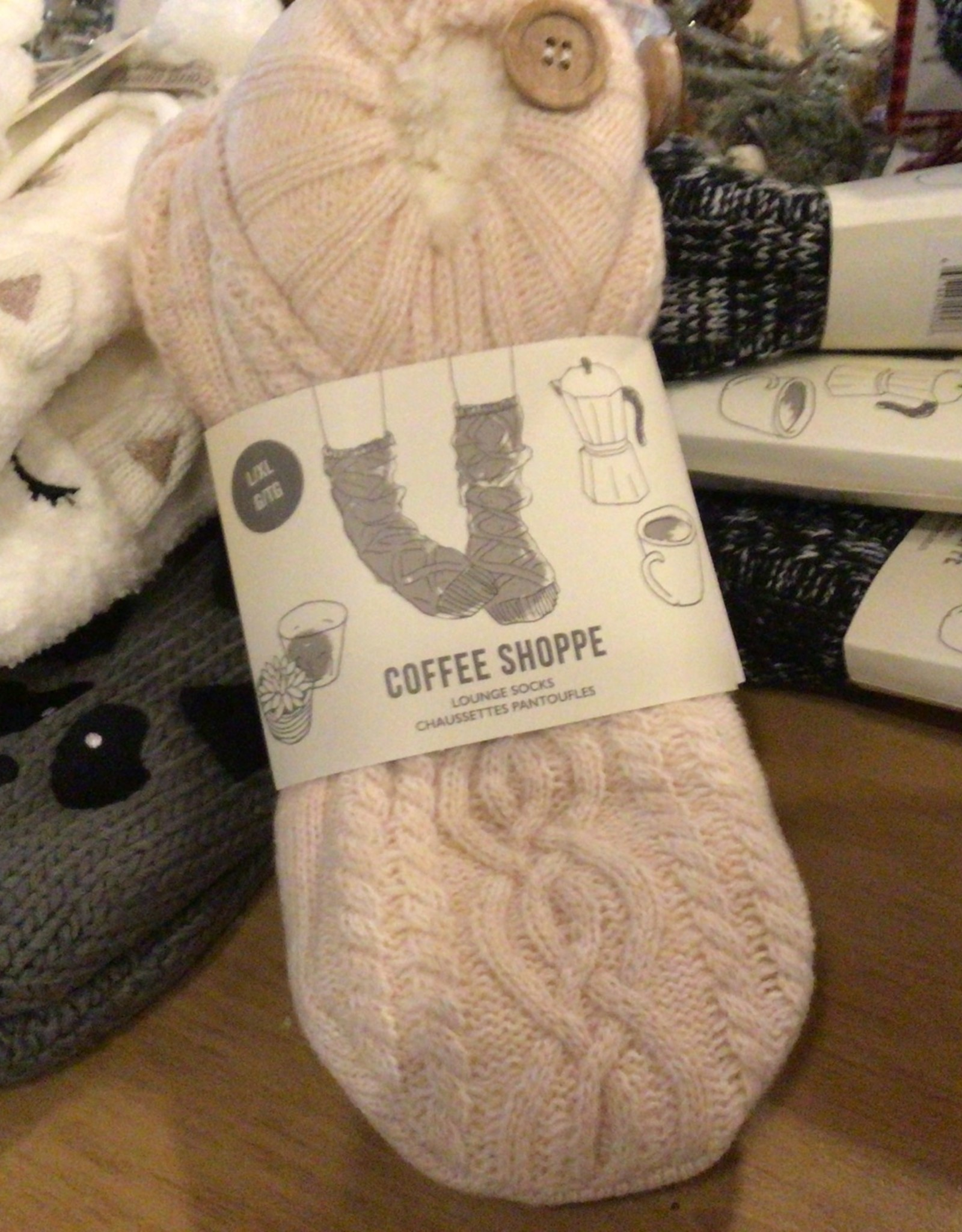coffee shoppe Knit Booties