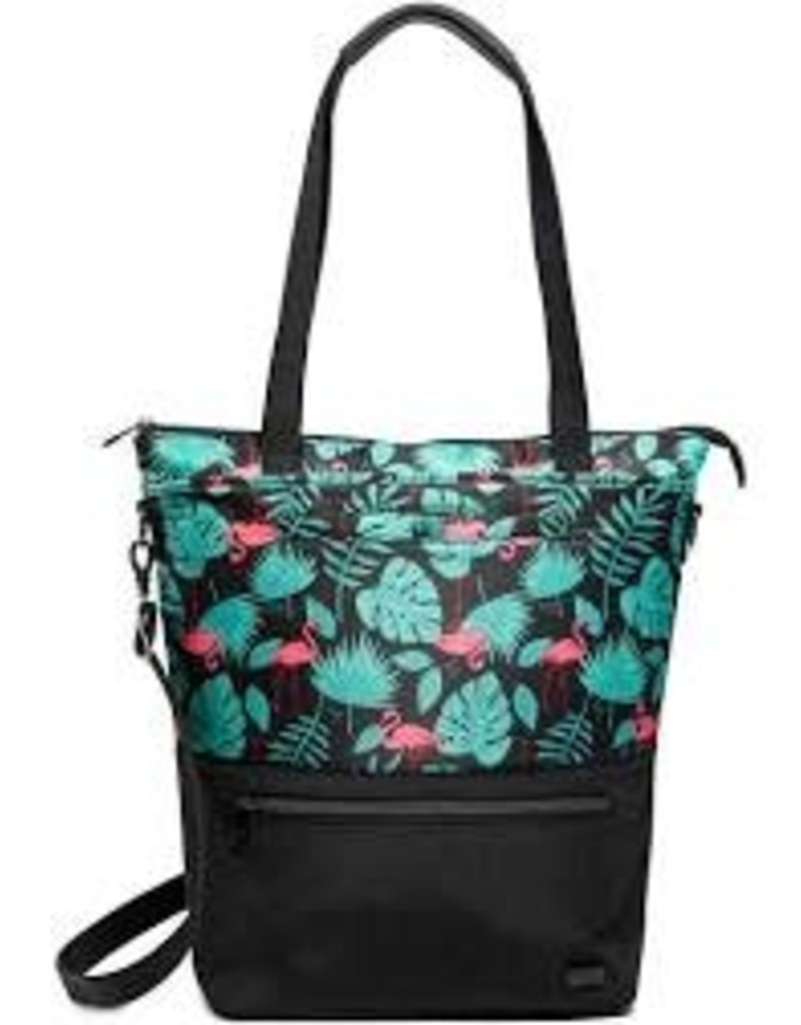 Lug Whirl Flamingo Black Tote Bag