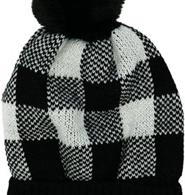 Britts Knits Ladies Buffalo Plaid Hat