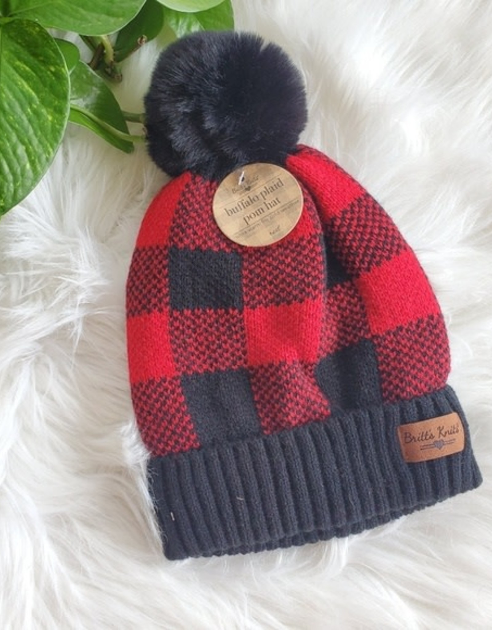 Britts Knits Ladies Buffalo Plaid Hat