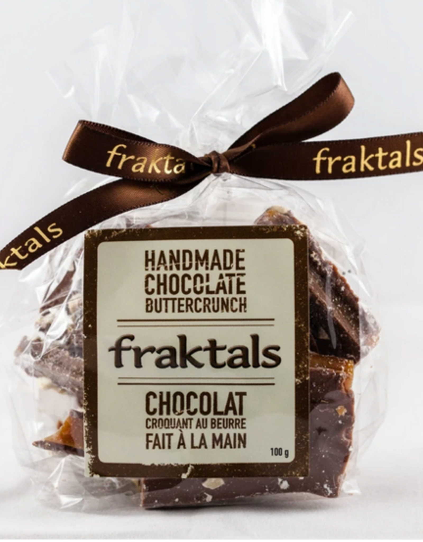 Fraktals Fraktals Belgian Milk Chocolate Buttercrunch 100 Gram
