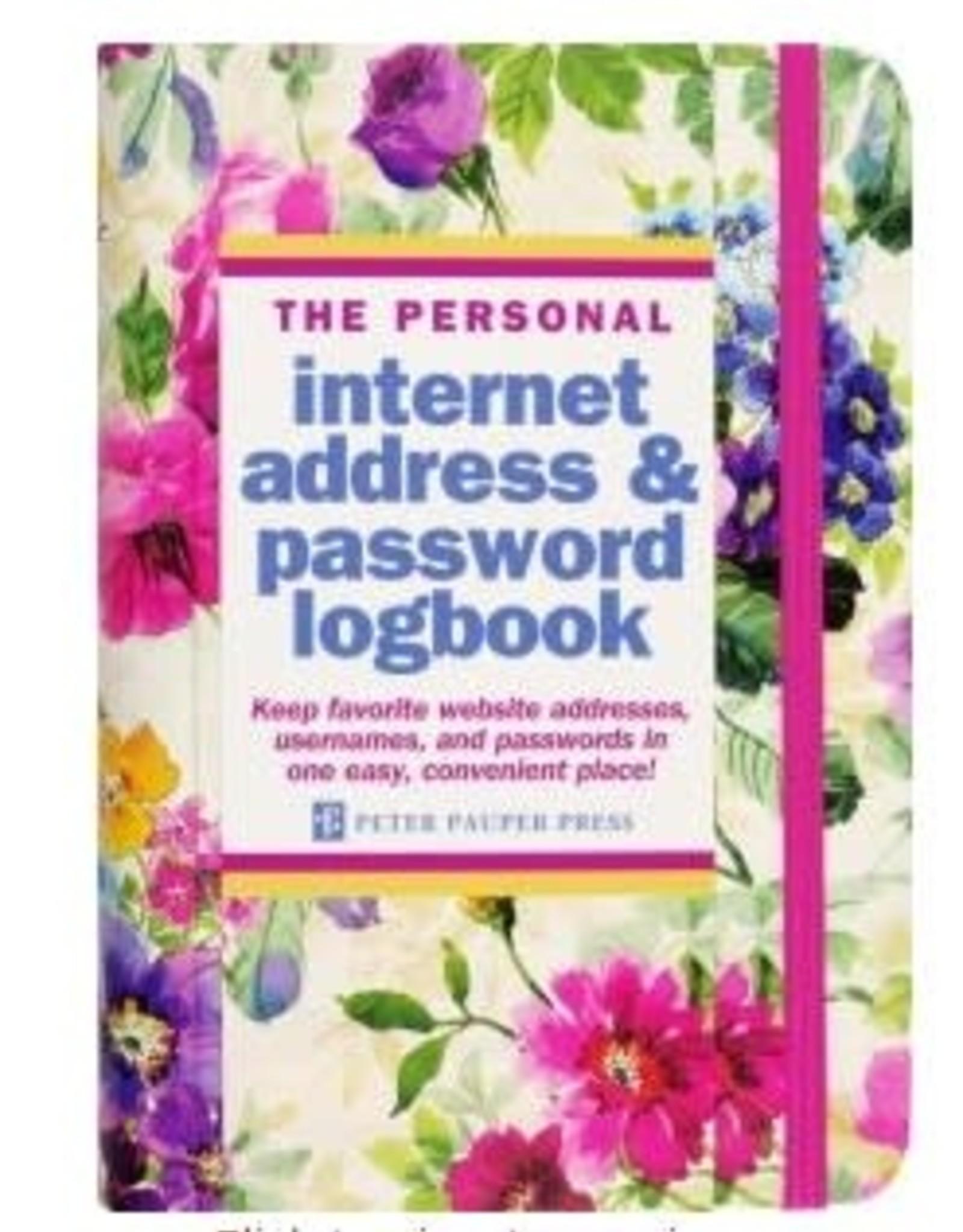 Peony Garden Internet Address & Password Logbook