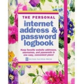 Peony Garden Internet Address & Password Logbook
