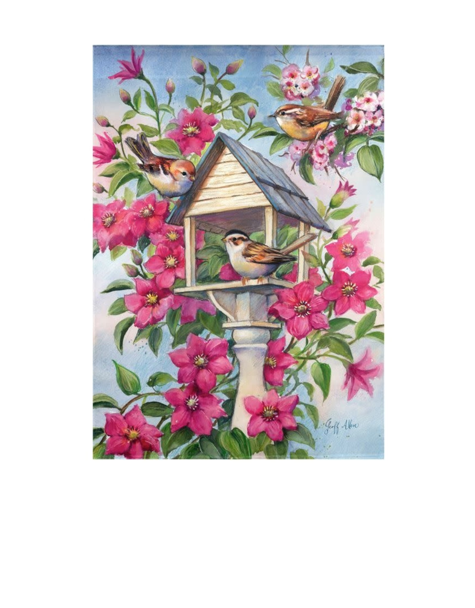 Bird Garden Garden Suede Flag
