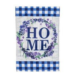 HOME Wreath Garden Strie Flag