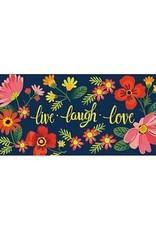 Live Laugh Love Floral Sassafras Switch Mat