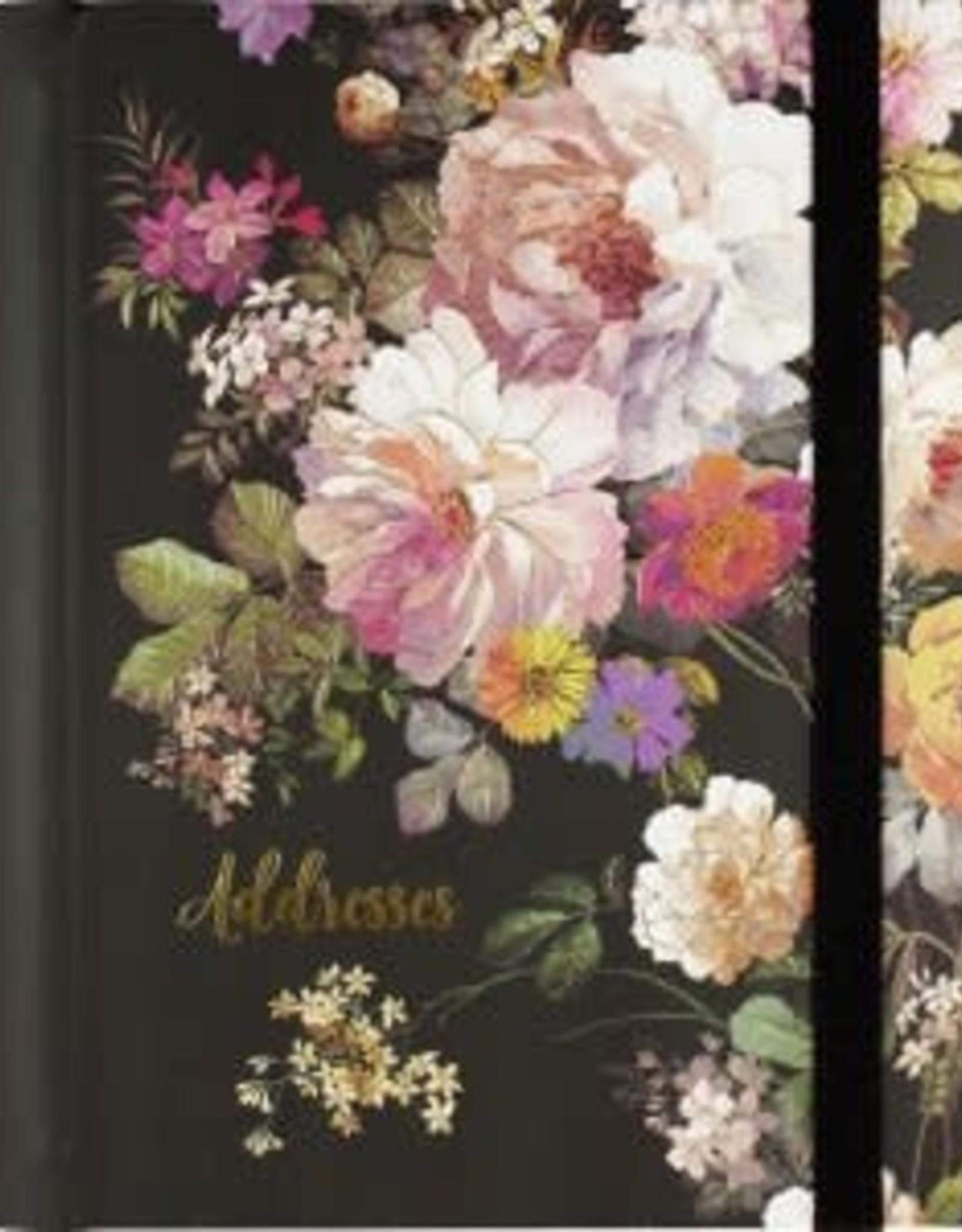 Address Book Midnight Floral