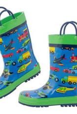 Stephen Joseph Kids Rain Boots Transportation