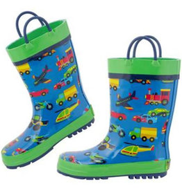 Stephen Joseph Kids Rain Boots Transportation
