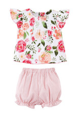 Mud pie Floral Short and Shirt Set
