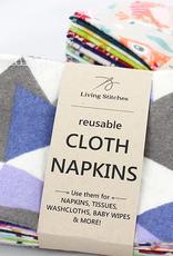 Living Stitches Cloth Napkins/Washcloths 12 pk