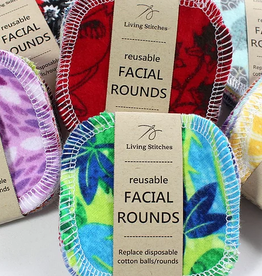 Living Stitches Reusable Facial Rounds 10 pk