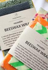 Living Stitches Beeswax Wraps Multi Siz 3 pk