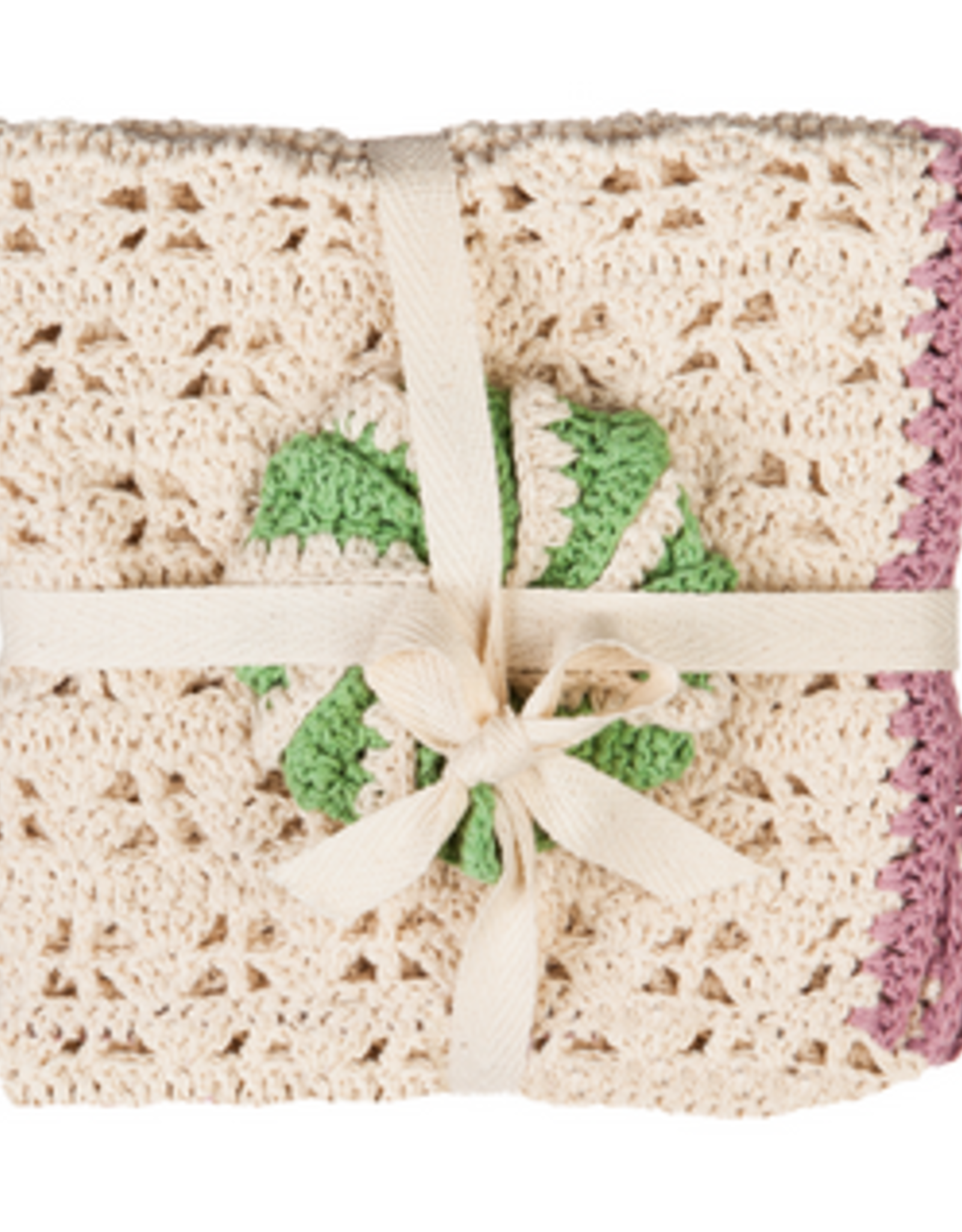 Evergreen Cotton Dish Cloth and Scrubber Gift Set