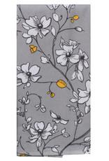 Grey Floral Dual Purpose Towel
